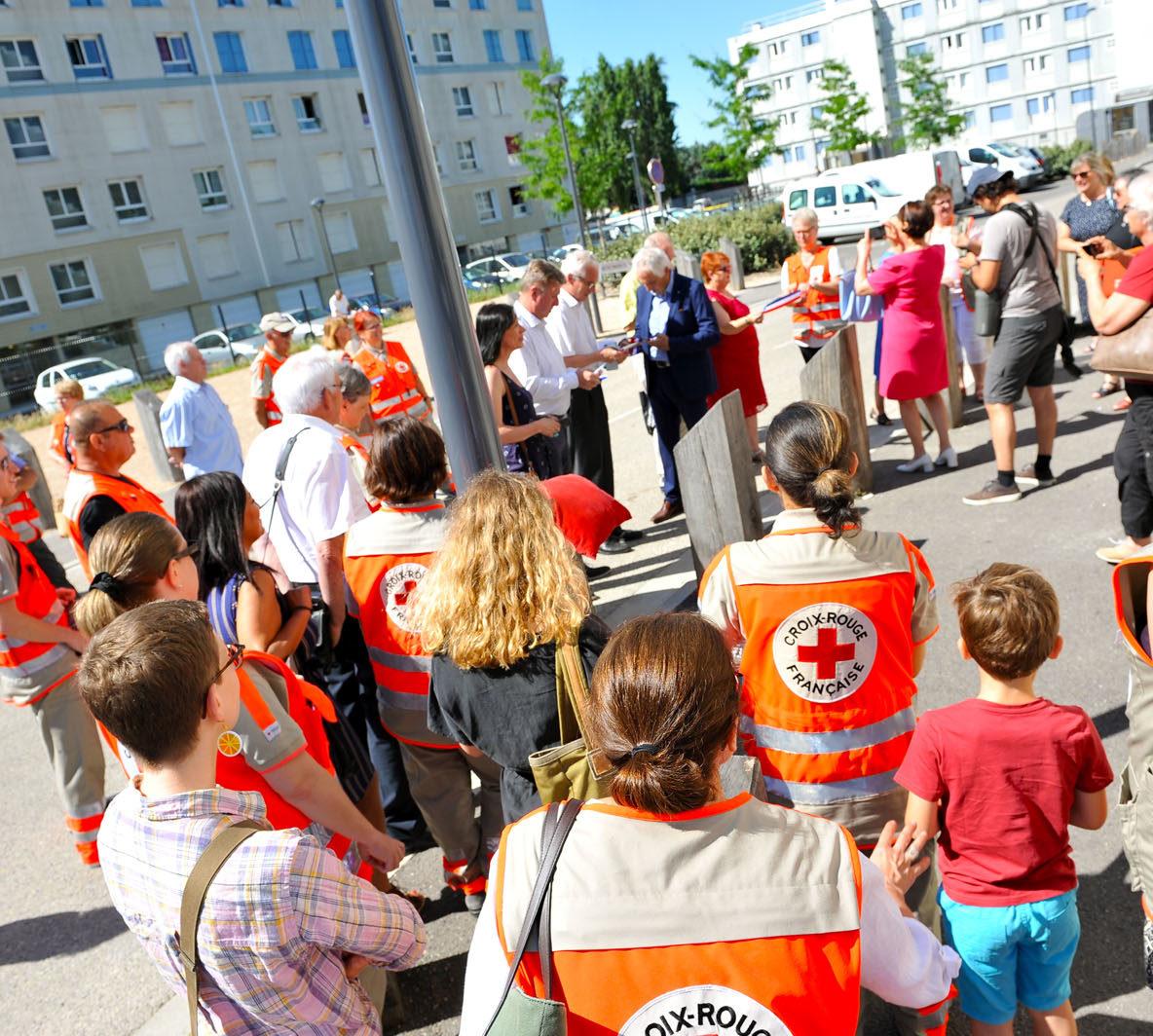 Inauguration des locaux de la Croix-Rouge