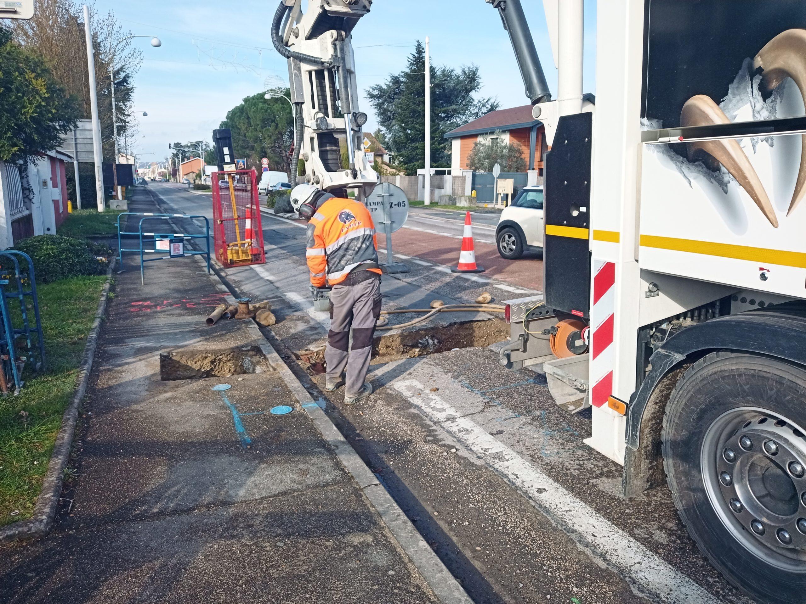Renouvellement du réseau adduction eau potable à Beynost 2